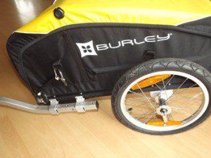 Burley Nomad 2011 Reifen und Stange der Anhängerkupplung