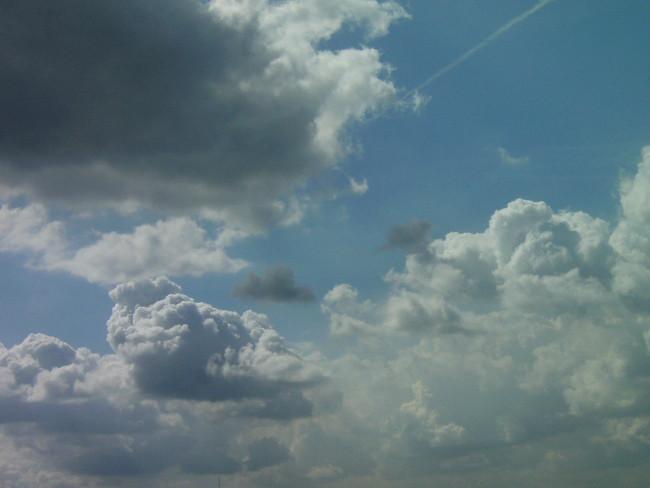 Beim Radfahren Himmel beobachten
