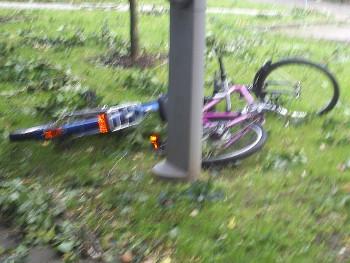 Unwetter für Radfahrer gefährlich