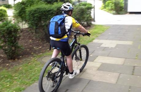 Rucksack für Radfahrer