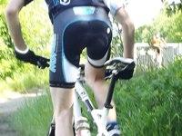Radlerhose mit Polsterung für Radsportler