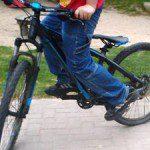 Schuhe beim Radfahren