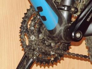 Fahrradkette und Kettenblatt checken