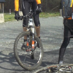 Stehen mit dem Fahrrad