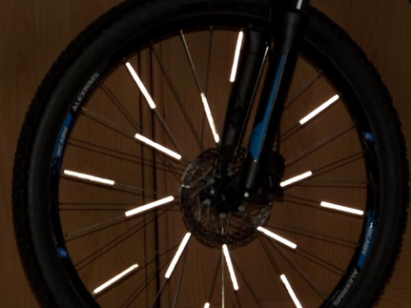 Reflektoren beim Fahrradcheck