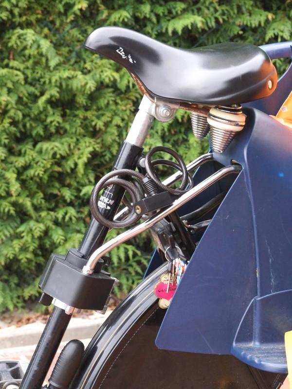Fahrradsitz für hinten mit Rahmenmontage